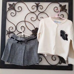 Black and Cream skirt/ sweater